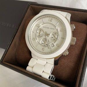 Michael Kors Runway White Chrono Unisex Watch